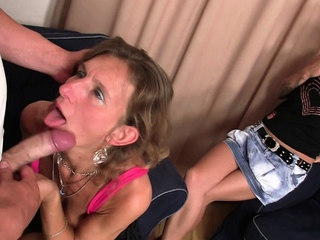 Wife watches he fucks small tits progenitrix in law