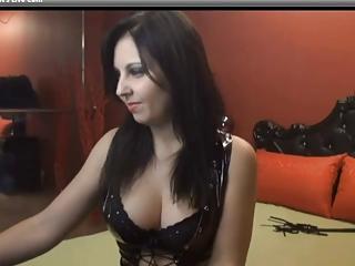 Brunette Smoking and Fingering Pussy on Webcam