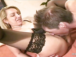 Twosome German Grown up Loan Her Economize coupled with Fuck in Group