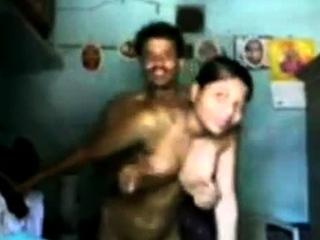 22 housegirl alongside bated breath way in hving sex alongside bf