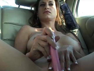 Backseat Dildo Fucking On touching Candy