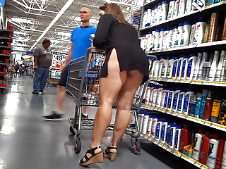 upskirt shopping impervious milf
