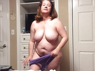 BBW mom with flimsy pussy tries on pantihose increased by BBC fantasy