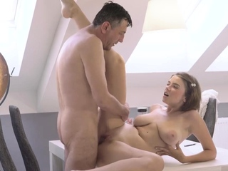 Teen handjob xxx Venerable witty gentleman beside a young super-sex