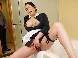 Rei Kitajima in Naughty demoiselle Rei Kitajima noisome masturbating - JapanHDV