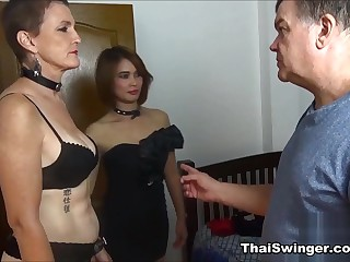 Training of Slutwife D - ThaiSwinger