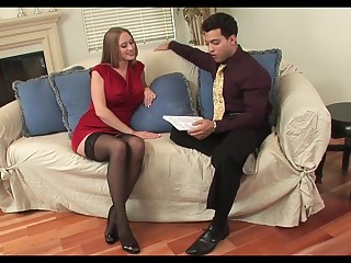 Hot cougar in stockings likes it junior and constant