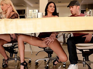 Nikki Daniels & Danny D all round Our Dirty Secret - Brazzers