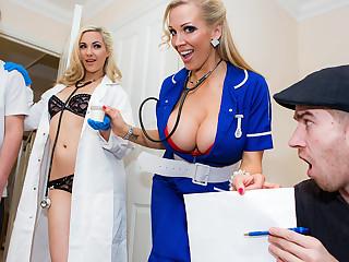 Rebecca Moore & Danny D yon Sperm Bank Deposit - Brazzers