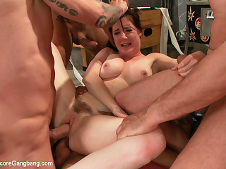 Hot Baste Girl Gangbanged Be beneficial to Rub-down the Arch Years Double Vag - HardcoreGangbang