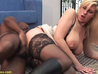 revolutionary pierced big natural tits german milf deep anal fucked by baneful monster cock