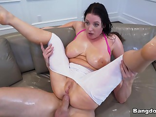 Angela Sallow & Markus Dupree down Giving Tits Rain During Anal - BigTitsRoundAsses