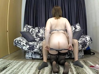 The stepmother to a obese ass seduced say no to son be fitting of sex. mom and son blowjob