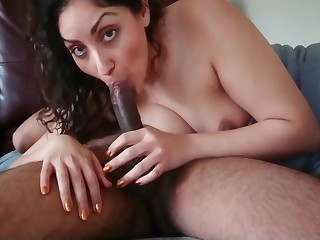 Indian milf house tie the knot gives slow being Blowjob and swallows desi chudai POV Indian