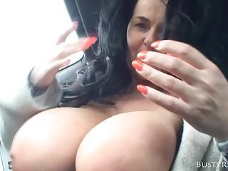 Domineer Reny boobs bouncing