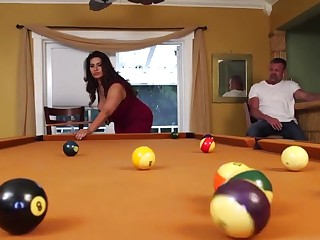 Fat Cunt Fucked vulnerable Pool Game table