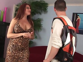 Amazing milf to heavy titties fucked