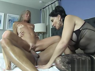 Rita Daniels with the addition of Leilani Lei Share a Big Black Dick