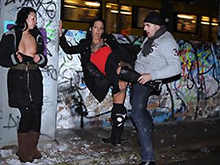 Mareen De Luxe Tara Trash in Public German Threesome in a catch snow - MagmaFilm