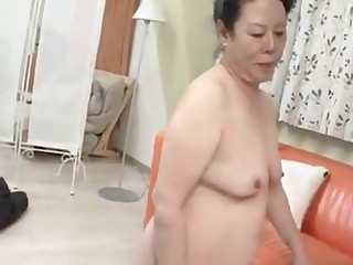 Japanese granny enjoys nether man digging