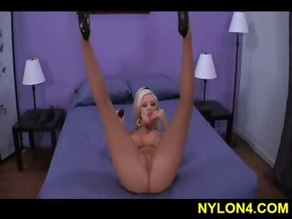 Brittany sexy pantyhose tease
