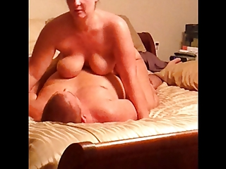 Wife riding cowgirl