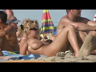 Cute Blonde Milf on French Beach By TROC