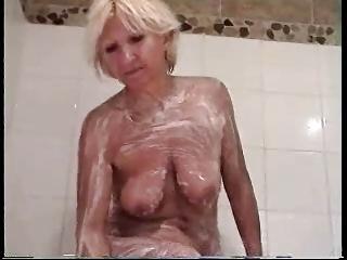 Sandrine in the shower