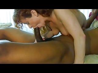 White mature slut and black bull