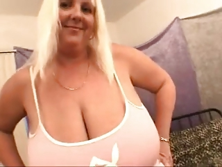 Tall Giant Boobs Cougar touch herself
