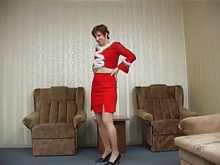 Pantyhose mature buzzed jibe Xmas party