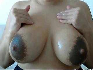 Milf's fat breasts lactatin