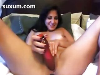 Hot milf fucking will not hear of pussy back upper case dildo