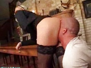 German MILF big gun screws young employee