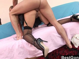 Milf Constable Spreads The brush Legs For Anal