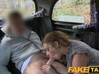 FakeTaxi Feisty buyer ends relating to sucking cock