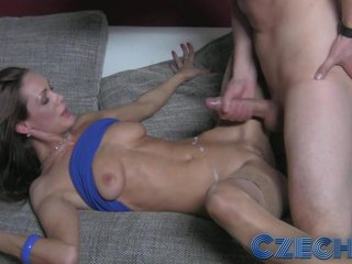 Czech - Chap-fallen MILF artificial with geeks cock