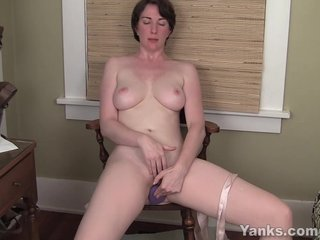 MILF Inara Fucks A Dildo For Trail