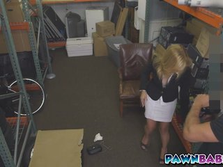 Flaxen-haired MILF banged for cash
