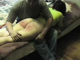 Spanking my be seated Nadja a real red ass